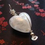 Glass Heart Charm